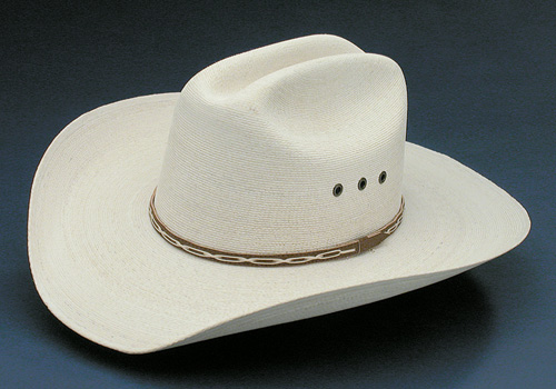 Palm Marfa 5X cattleman hat with hat band and eyelets
